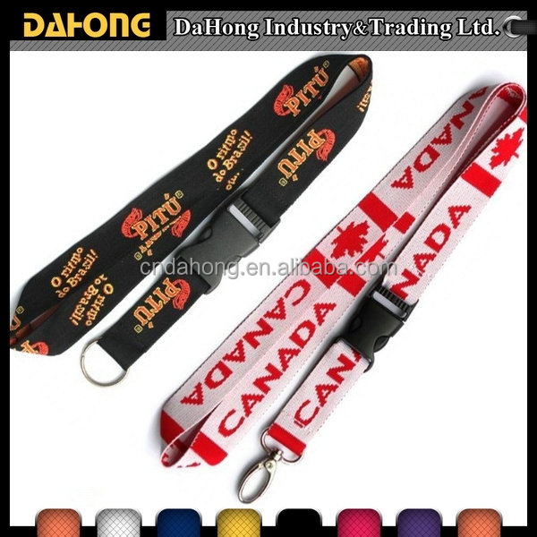 custom personalized neck printed sublimation polyester lanyard