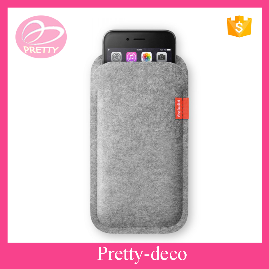 Factory price polyester fabric felt phone case cover with label company logo