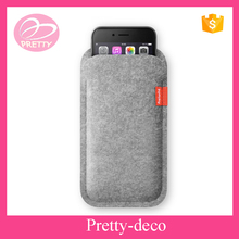 Polyester fabric felt phone case cover with label company logo