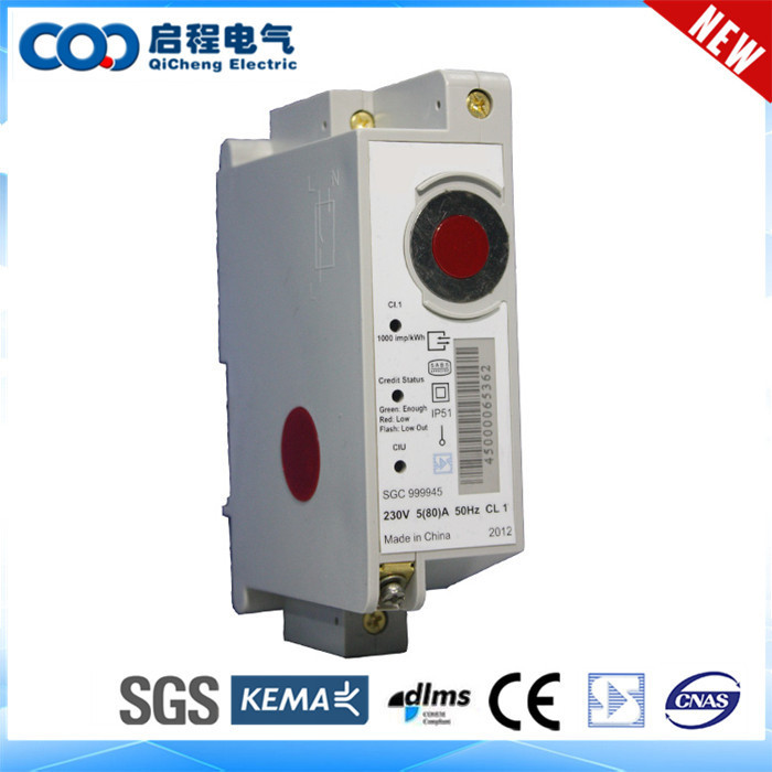 Electrical pulse output smart multi-functional prepayment 1ph energy meter/electricity kwh meter