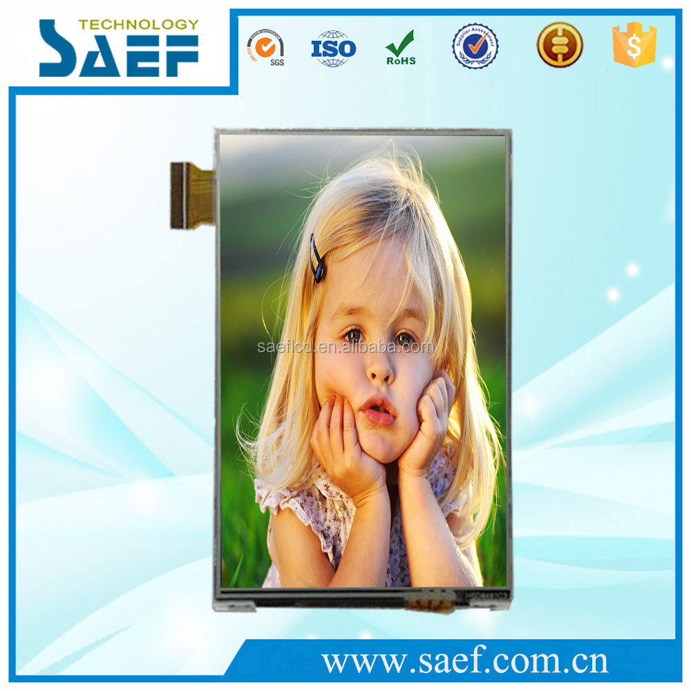Customized tft display 3.5 inch lcd display with Resistive Touch panel in smartphone sunlight readable