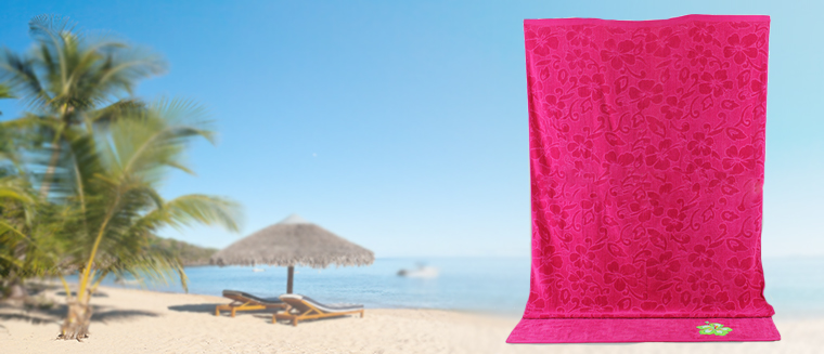 Custom cotton fabric biodegradable embroidered velour beach towel