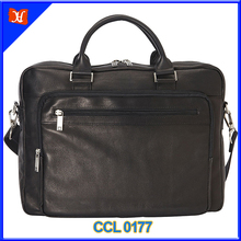 "2016 Simple men's Laptop briefcase 16"" Leather messenger"
