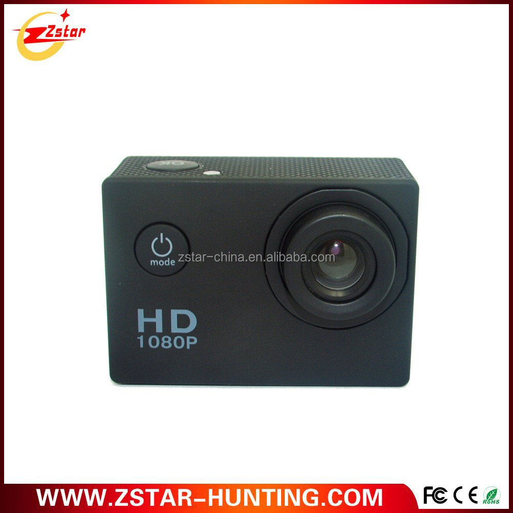 14USD Cheapest 30m waterproof 120 wide angle lens 1080p rechargeable battery sports action camera