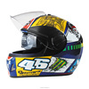 The most popular colorful double visor full face helmet