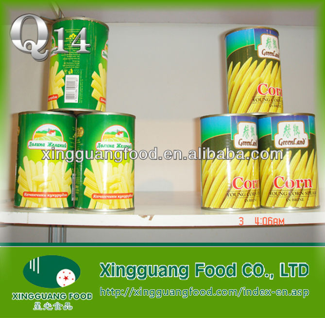 various types of packing can frozen baby corn