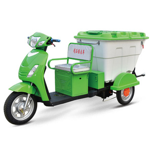 Small electric three wheel garbage truck for sale