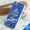 Customized embossed logo strong 3D effect summer cell phone cases for iphone 5s case