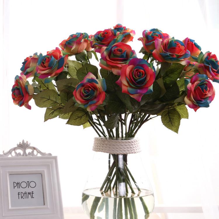 Wholesale decor rainbow flowers online buy best decor rainbow china wholesale wedding strongdecorationstrong strongrainbow mightylinksfo