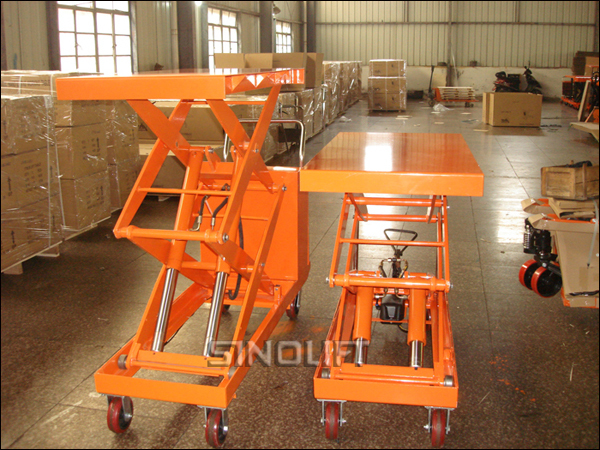 Hot- CYTS Double Scissors Table Lift Truck