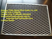 Aluminum expanded mesh oil filter