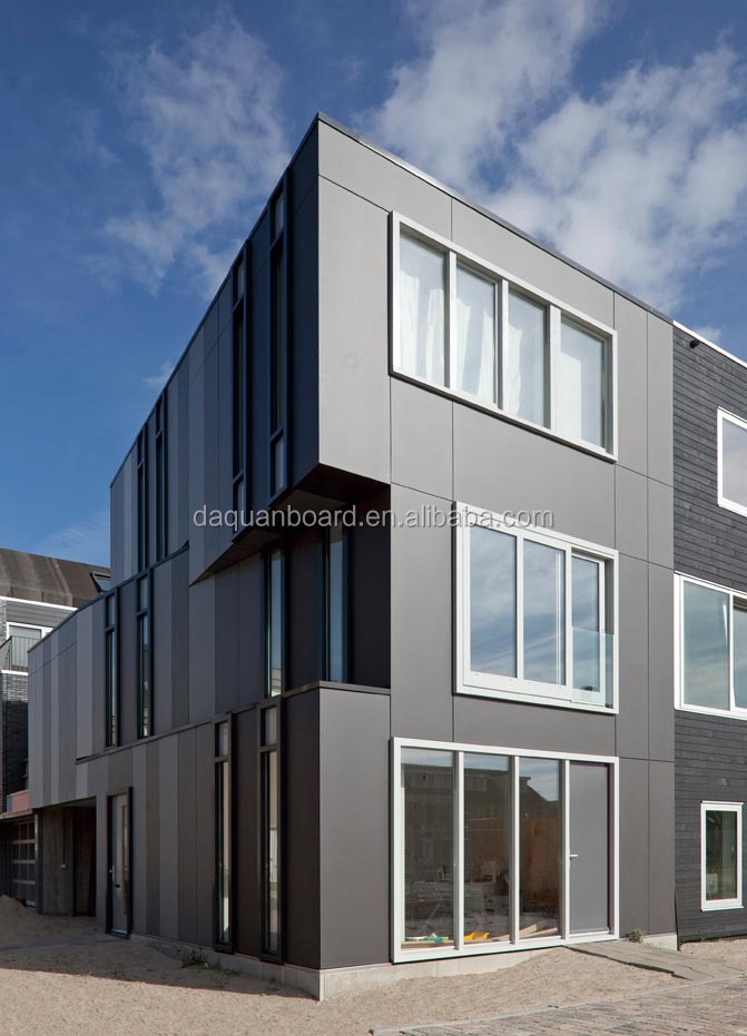 Fast constructed modern style house with steel structure and EPS cement sandwich panel