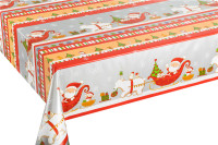 Christmas Festival PVC Print Fabric Table Cloth Snowman Decorative Non-woven Table Cloth