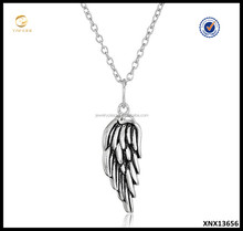 cheap fashion jewelry 925 Sterling Silver Angel Wing Pendant Necklace made in china