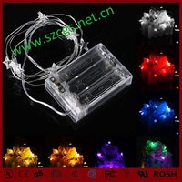 New factory 10 leds white star battery operated led fairy light string