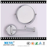 wall mounted folding cosmetic bathroom mirror magnifying mirror