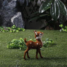 Life like mini plastic animated pet christmas plush toy deer