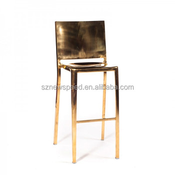 Chrome Finish Stainless Steel Barstool for events rental use L360
