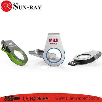Top selling New model Swivel USB key usb flash 4gb with 3D logo and LED light