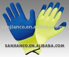 Latex coated cotton glove with interlock lining liner Nitrile PU PVC Nitril