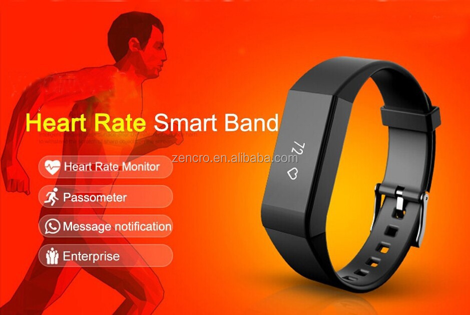 Zencro Supply Activity Sport Tracker Bluetooth Heart Rate Monitor Wireless Veryfit Smart Wristband