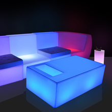 new design Wholesale LED plastic modern bar counter illuminate coffee table