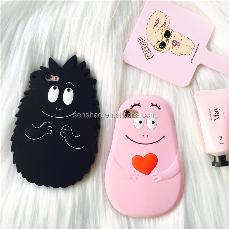 High Quality Cartoon Animal Case Full Package Soft Silicone Protective Cover Cute For Iphone6/7