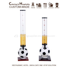 5/ 3 liter Beer tower/ plastic beer tower drink dispenser with football base