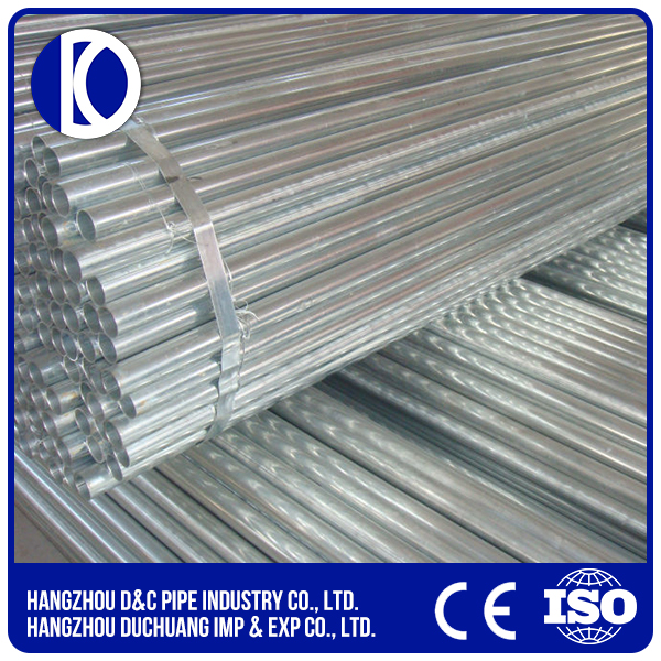 ERW Pre Galvanized Steel Pipes for EMT Electrical Trunking Pipe