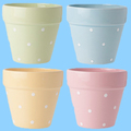 small ceramic blue and white porcelain flower pots Wholesale
