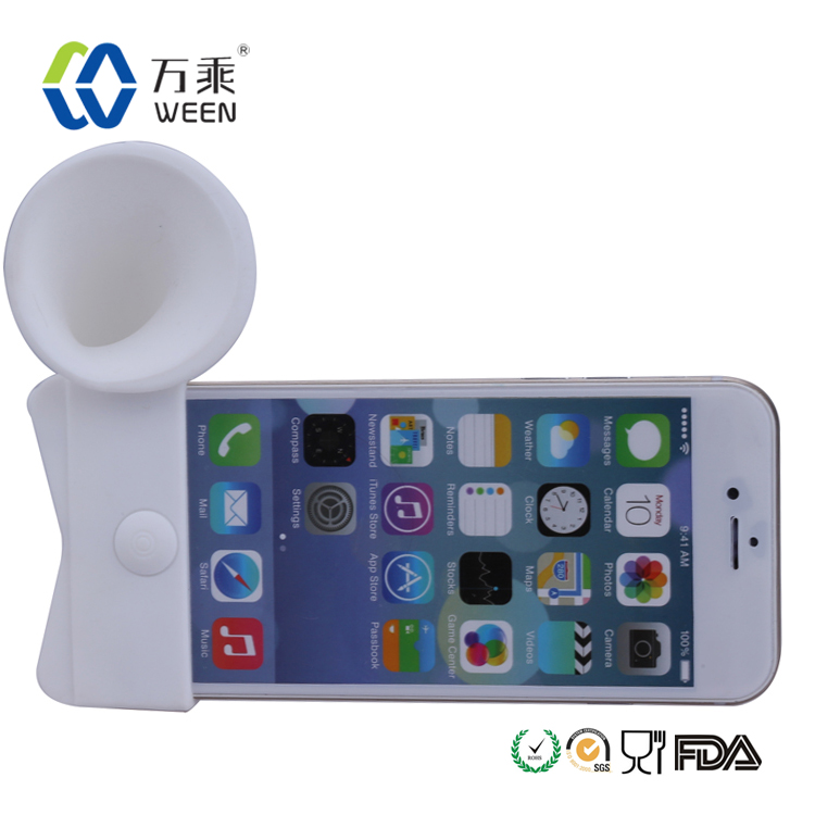 Portable wireless cell phone sound speakers silicone headphone amplifier silicone horn speakers