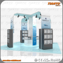 beautiful aluminum exhibition display booth made in china