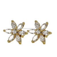 ES-002 Fashion Wholesale Luxury Women Wedding Crystal Earrings for high Quality Jewelry Marke