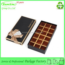 Handmade custom luxury chocolate box with insert paper card