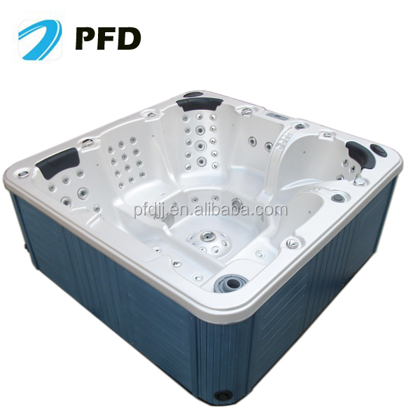 outdoor indoor free standing pfdjj 04 best sell in europe 6 persons hot tub to get through the. Black Bedroom Furniture Sets. Home Design Ideas