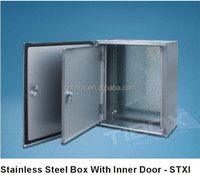 China Supplier Electronic IP66 Outdoor Project Enclosure Box Stainless Steel Metal Weatherproof Enclosure
