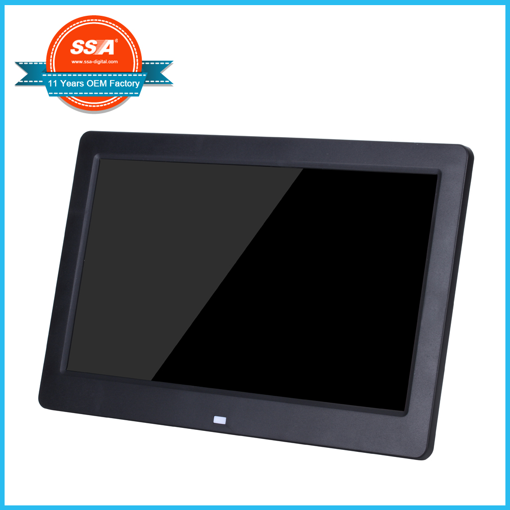 Hot sale 10 inch HD video play digital photo frame advertising digital photo frame for and home for sale