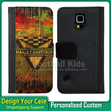Cell phone cover for samsung galaxy s5, custom case,2D sublimation flip leather case for samsung s5