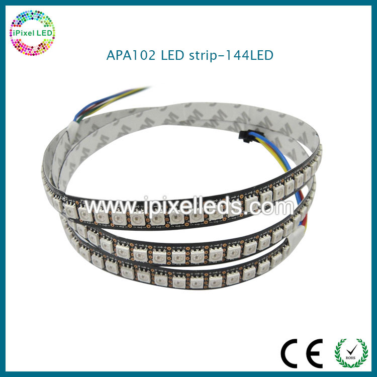 Super bright addressable apa102 144 led pixel strip,smd5050 <strong>rgb</strong> apa102 led rope light