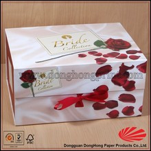Custom Sweet Box Flower Packaging Gift Box With Ribbon Design