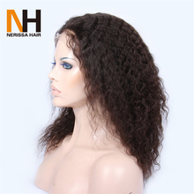 Natural Curly Cheap Lace Front Wig Bleached Knots Peruvian Human Hair Full Lace Wig With Baby Hair