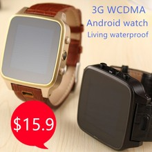 Low price living waterproof 1.54 inch MTK6572 Dual Core Single SIM 3G WCDMA Android Smart Watch phone