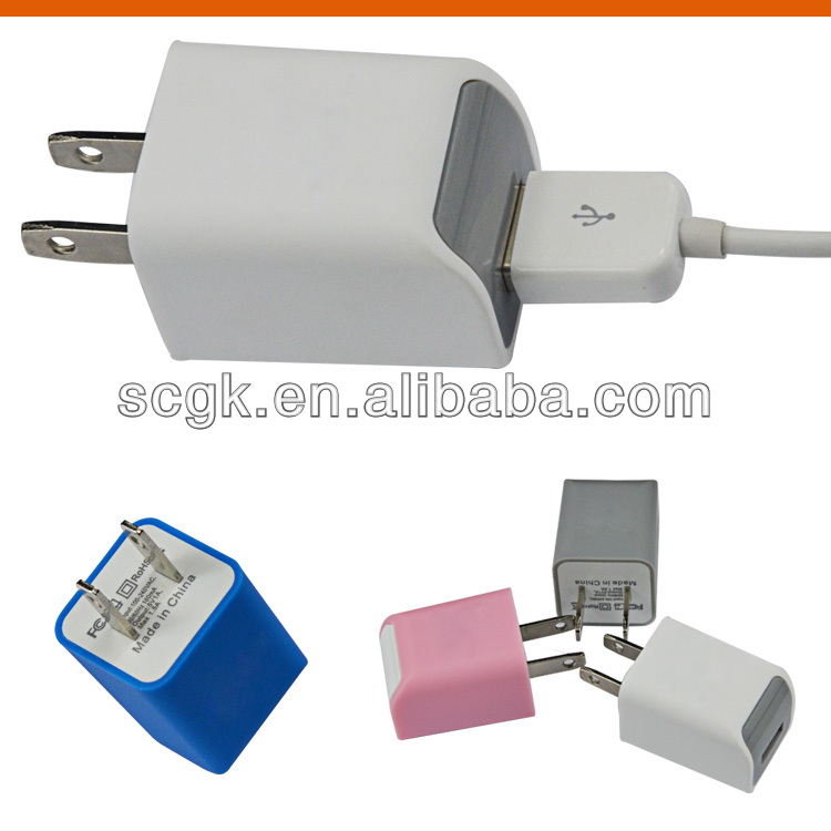 wholesale mini usb wall charger for iphone solar charger with ac wall socket