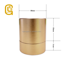 high grade luxury gold color packaging paper tube box for artwork