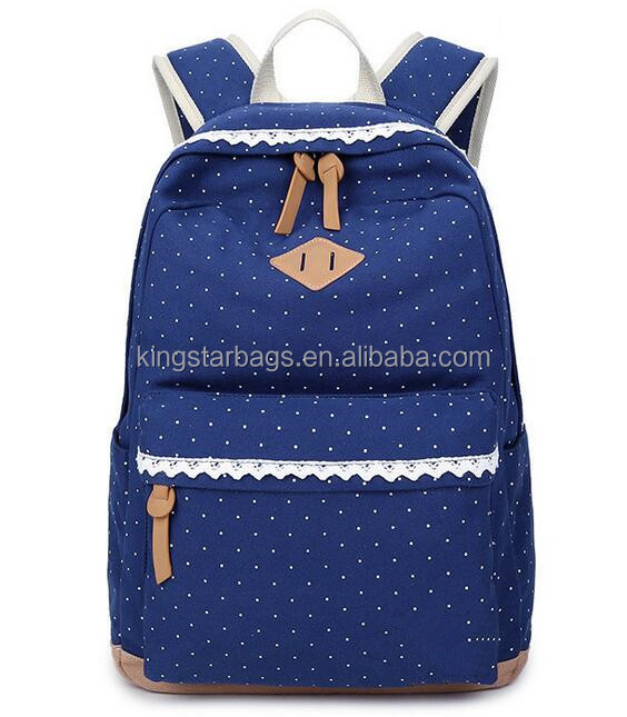trendy zipper bag canvas school backpack with pig snout
