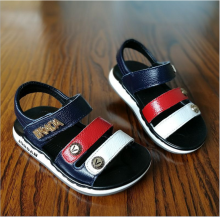 2017 children shoes new design plain boys good quality sport wearable sandals