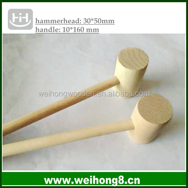factory direct supplying toy accessory natural wooden toy hammer