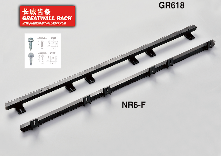 GREATWALL 6 Black Plastic Gear Racks for Sliding Gate Opener Operator