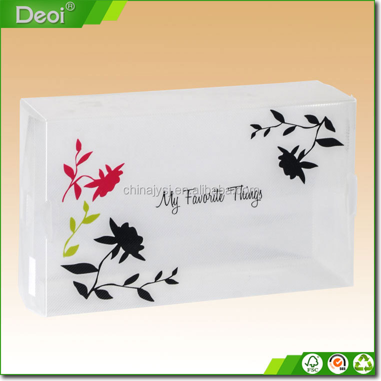 clear plastic shoe box wholesale hard cover packaging box