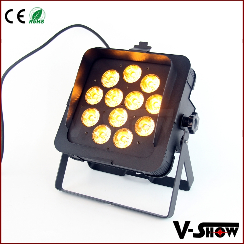 Par Can 12x18w IR remote control Rgbaw uv Led Stage Light Disco Dj Bar Effect Up Lighting Show Color 6in1 Flat /silm Par